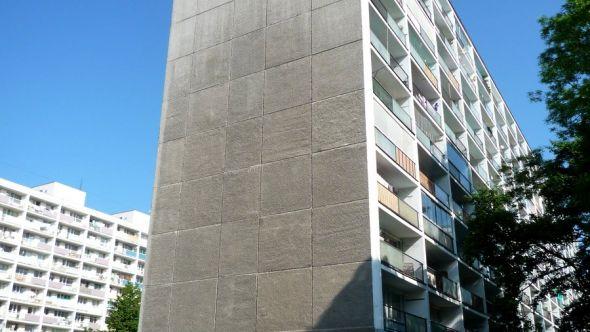 Fotografie štítové stěny před zateplením